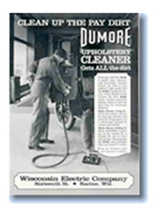 Dumore Corporation | Historical Wisconsin Electric Company Dumore Brand Upholstery Cleaner Catalog